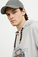 Худи мужское из хлопка с принтом Finn Flare, цвет светло-серый, размер XL