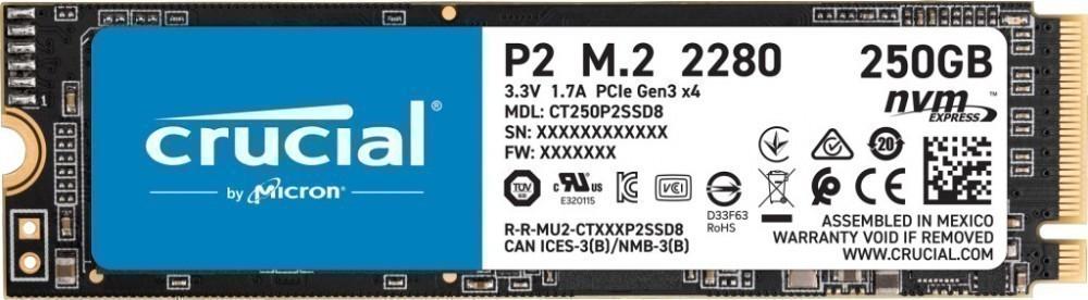 Твердотельный накопитель 250Gb SSD Crucial P2  CT250P2SSD8