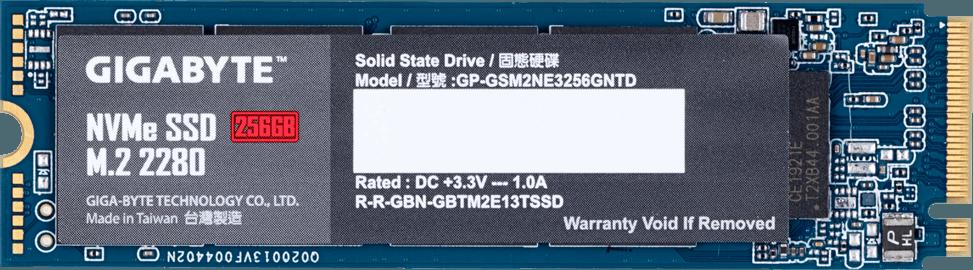 Твердотельный накопитель 256GB SSD Gigabyte, GP-GSM2NE3256GNTD