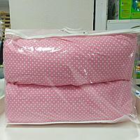 Подушка для беременных розовый/горох