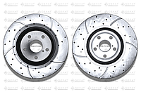 Тормозные диски Gerat DSK-F018W (ПЕРЕДНИЕ) Lexus Gs300, Gs350, Gs430, Gs450h, Gs460 s190, Gs250 l10,