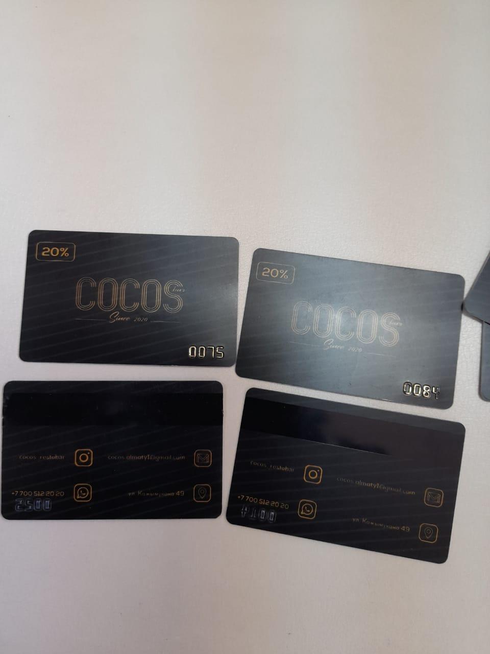 Дисконтные карты для фирм на заказ