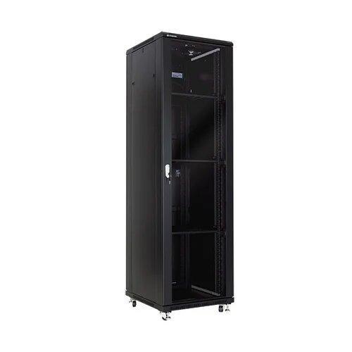 Шкаф серверный напольный LATITUDA 42U, 600*1000*1958мм, цвет черный, передняя дверь стеклянная