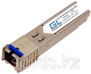 Модуль GIGALINK SFP WDM 100/155 Мбит/c одно волокно SM SC, Tx:1550/Rx:1310 нм, 14 дБ (до 20 км)