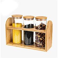 Набор стеклянных банок для хранения продуктов