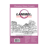 Обложки Lamirel Chromolux A4 LA-78689, картонные, глянцевые, цвет: белый, 230г/м², 100шт
