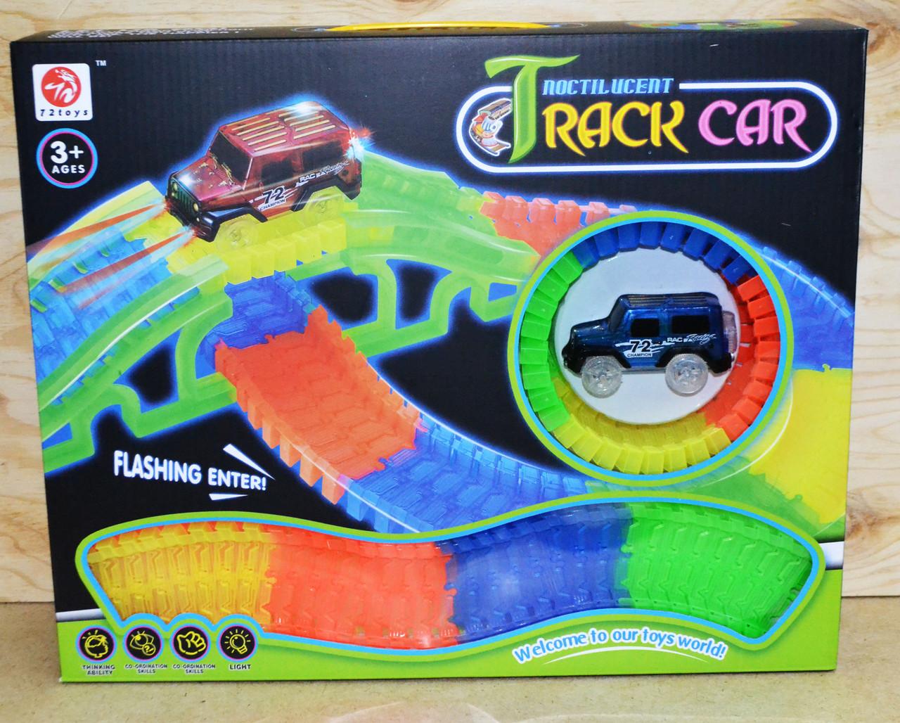 Немного помятая!!!  7204 Меджик Трек Magic Track Track Car 150 дет 1 машинка 40*33см
