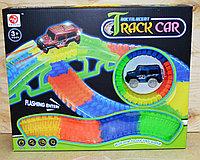 Немного помятая!!!  7204 Меджик Трек Magic Track Track Car 150 дет 1 машинка 40*33см, фото 1