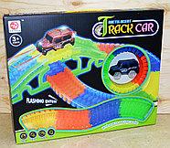 Немного помятая!!!  7204 Меджик Трек Magic Track Track Car 150 дет 1 машинка 40*33см, фото 2