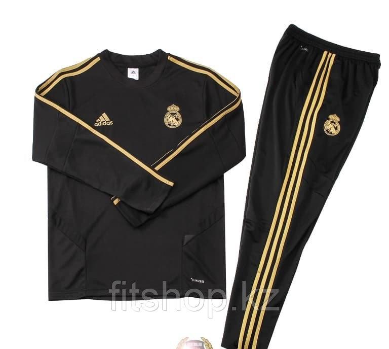 Тренировочный спортивный костюм Реал Мадрид черный ,подростковый 26 размер