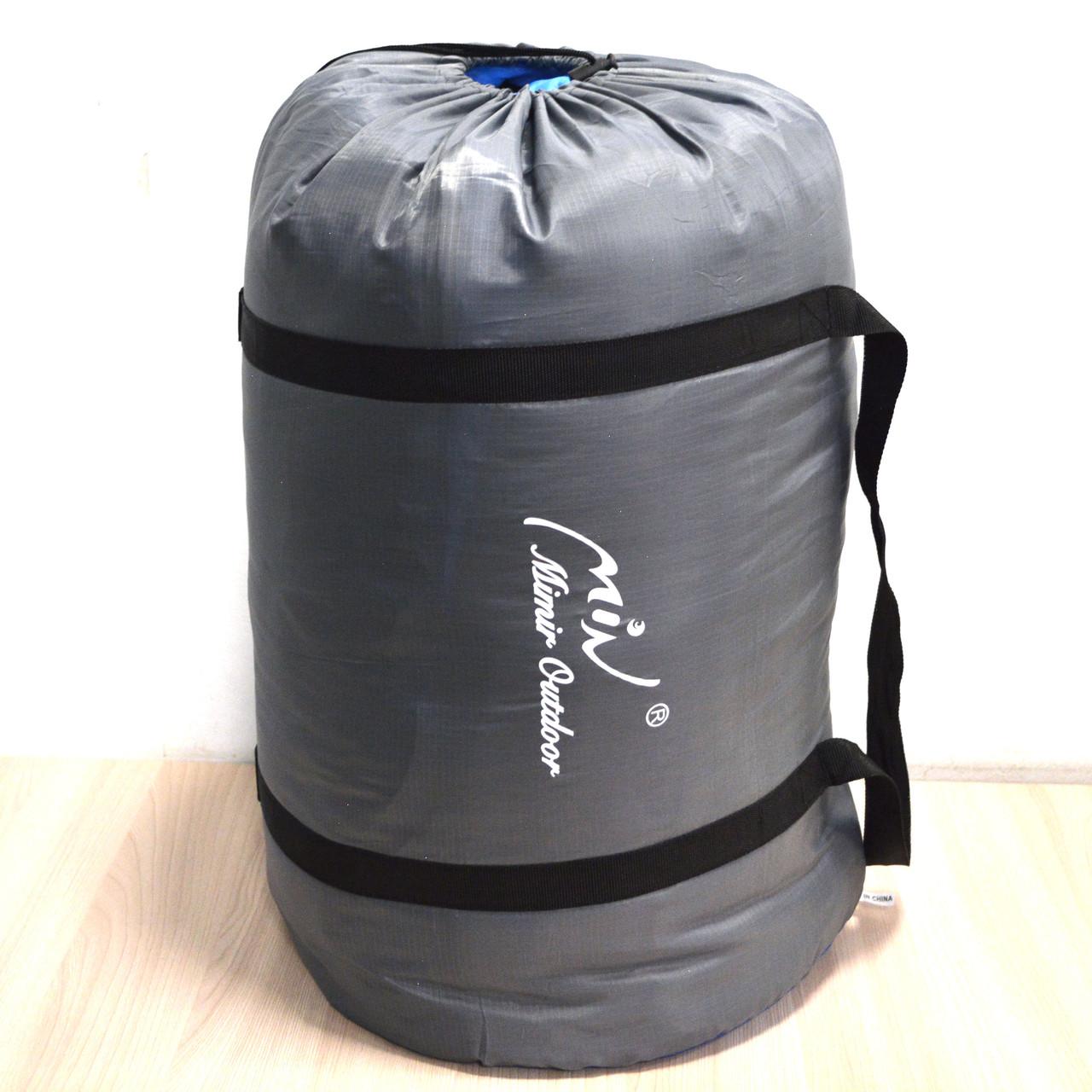 Спальный (туристический) мешок синтепоновый непромокаемый с левой молнией 230х90 см Mimir outdoor - фото 5