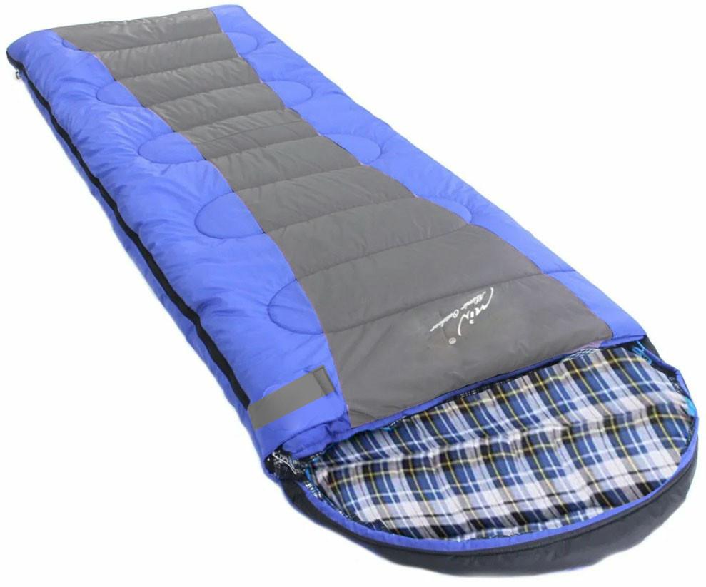 Спальный (туристический) мешок синтепоновый непромокаемый с левой молнией 230х90 см Mimir outdoor - фото 8