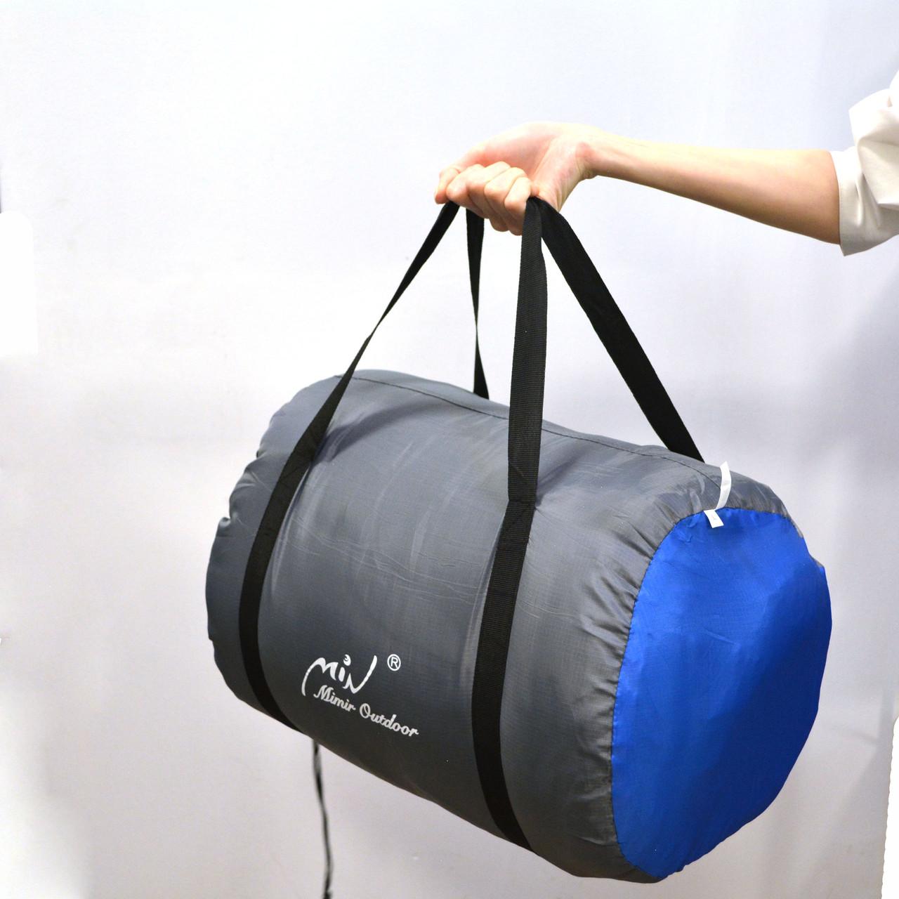 Спальный (туристический) мешок синтепоновый непромокаемый с левой молнией 230х90 см Mimir outdoor - фото 7