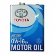 Оригинальное моторное масло TOYOTA 0w16 SN 4L