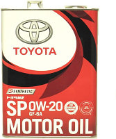 Оригинальное моторное масло TOYOTA SP 0w20 GF-6A 4L