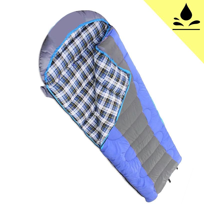 Спальный (туристический) мешок синтепоновый непромокаемый с левой молнией 230х90 см Mimir outdoor - фото 1