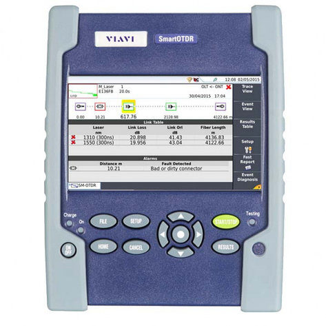 VIAVI SmartOTDR 126A-P0 - Оптический рефлектометр 1310/1550нм, 37/35дБ, SLM, фото 2
