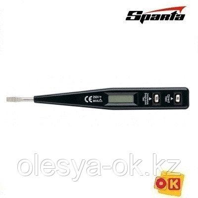 Тестер напряжения 12–220 В, жк/дисплей. SPARTA