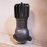 Вентиляционный выход с вращающей турбиной для профиля KRONA, Дюна , Фортуна , Андалузия  PNOBW 150 Коричневый