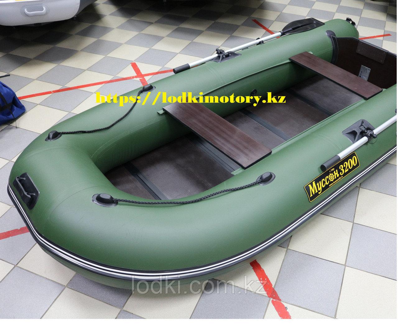 Лодка надувная Лодка Муссон 3200 С (Цвет: Зелёный) - фото 4