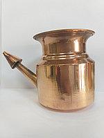 Медный чайник для промывания носа Нети пот, процедура Джала Нети