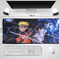 Коврик для для мышки клавиатуры и компьютеров Naruto и Saski 80х40 см