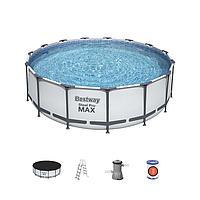 Каркасный бассейн Bestway 56438, Steel Pro MAX, размер 457х122 см