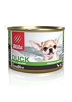 Влажный корм для собак мелких пород всех возрастов Blitz Duck & Zucchini утка с цукини
