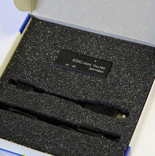 Цифровой мини-диктофон Edic-mini Tiny A62