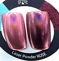 Втирка для ногтей Laser Powder Rose 001