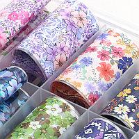Набор фольги для ногтей, цветы в ассортименте (10 шт)