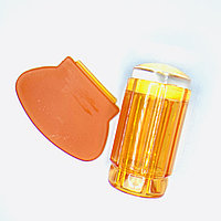 Печать для стемпинга, оранжевая