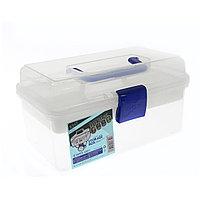 Пластиковый чемодан для хранения и транспортировки инструментов, розовый средний BX-01