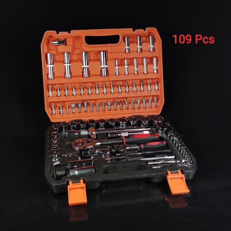 Набор инструментов, пластиковый кейс, 109 предметов