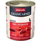 Animonda Junior 800г с говядиной и сердцем индейки Консервы для щенков и юниоров Gran Сarno