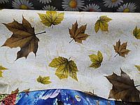 Красивая клеенка скатерть с листьями