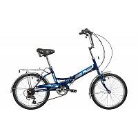 "Велосипед NOVATRACK 20"" складной, FS30, синий, 6скор. Shimano TY-21,тормоз 2руч,сиден #137228"