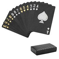 Колода черных игральных карт ПокерФест Black Diamond из пластика
