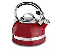 Чайник наплитный классический со свистком 1,89 л, красный, KTEN20SBER, KitchenAid
