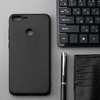 Чехол Innovation, для Huawei Honor 9 Lite, силиконовый, матовый, черный