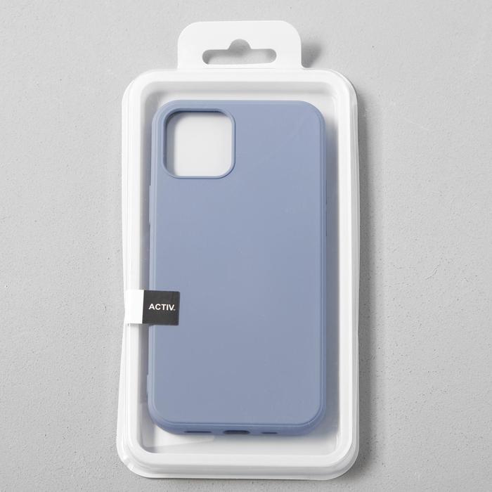 Чехол Activ Full Original Design, для Apple iPhone 12/12 Pro, силиконовый, серый - фото 4