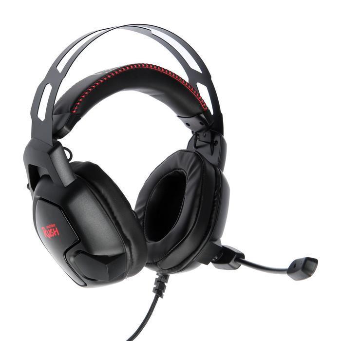 Наушники Smartbuy AMBITION, игровые, полноразмерные, микрофон, подсветка,2.1 м,чёрно-красные - фото 1