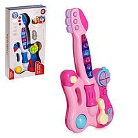 Игрушка музыкальная гитара «Мелодия», световые и звуковые эффекты , цвета МИКС