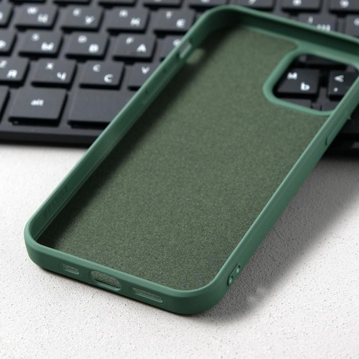 Чехол Activ Full Original Design, для Apple iPhone 12/12 Pro, силиконовый, тёмно-зелёный - фото 3