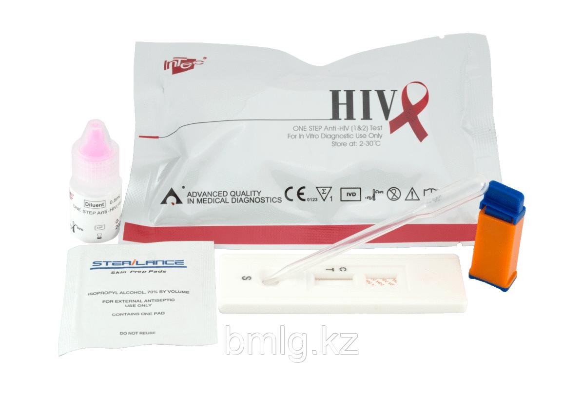 Экспресс тест для определения антител к вирусу иммунодефицита человека ВИЧ 1/2 (HIV 1/2)