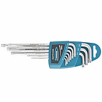 Набор ключей имбусовых TORX-TT, 9 шт: T10-T50, экстра-длинные, S2, сатинированные Gross