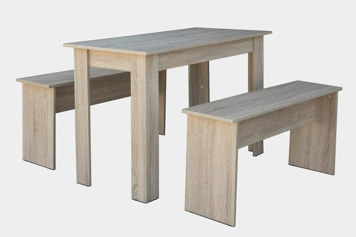 Стол + 2 скамейки 021, Дуб сонома, Мебель-Сервис, фото 2