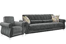 Комплект мягкой мебели Роуз, Серый, Нижегородмебель и К(Россия), фото 3
