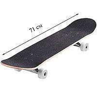 Скейтборды подростковые с узором в нижней части деки 71х20 см в ассортименте