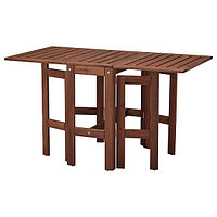 Стол складной садовый ЭПЛАРО коричневая морилка 34/83/131x70 см ИКЕА, IKEA